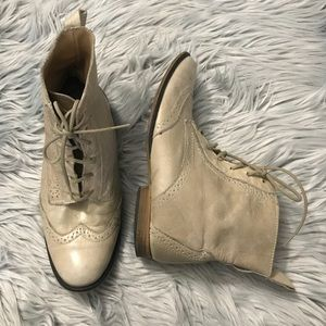 Steve Madden Lace Up Oxford Boots Wingtip Shoes
